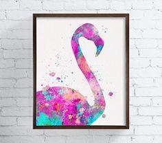 Watercolor Flamingo Flamingo Art Flamingo Print by MiaoMiaoDesign