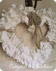 Shabby Chic Heart Wreath