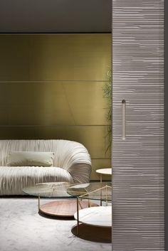 Milan Design Week 2016. Drapé Sofa and Echo Coffee tables by Bartoli Design