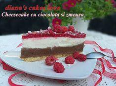 diana's cakes love: Cheesecake cu ciocolata si zmeura Biscuit, Cheesecake, Diana, Desserts, Food, Pie, Tailgate Desserts, Deserts, Cheesecakes