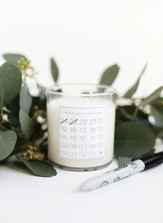 DIY Christmas Countdown Candle @themerrythought