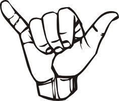 Sign Language Y Hang Loose clip art - vector clip art online, royalty ...