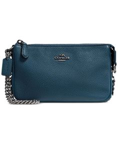 Coach Nolita Wristlet 19 in Polished Pebble Leather with Willow Floral