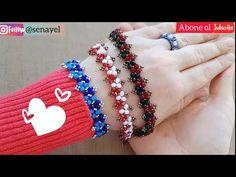 Çok Kolay Aşırı Zarif Kristal Bileklik Yapımı || #DIY || Crystal Bracelet - YouTube Beaded Bracelets Tutorial, Beaded Bracelet Patterns, Handmade Bracelets, Crystal Bracelets, Cuff Bracelets, Beads, Crystals, Accessories, Jewelry