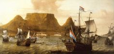 """""""The Africa in Table Bay"""", Aernout Smit, my favorite painting in the William Fehr Collection at the Castle of Good Hope African Map, African History, Cape Colony, Places Worth Visiting, East India Company, Cape Town South Africa, Beautiful Places, Castle, Genealogy"""