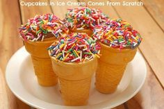 cupcakes in ice cream cones is a cupcakes recipe that for sure kids would love. #cupcakesinicecreamcone #cupcakes #tasty #simple #recipe Blue Velvet Cupcakes, Ice Cream Cupcakes, Lemon Cupcakes, Flower Cupcakes, Yummy Cupcakes, Wedding Cupcakes, Cupcake Cones, Cupcake Party, Cupcake Toppers