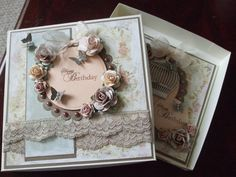 Coordinating box lid for my shabby chic card x