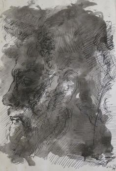 """Juan Martín """"Perfil"""" Tinta china sobre papel  33 x 23 cm. Año 1979  Firmado y fechado abajo a la derecha  http://www.portondesanpedro.com/ver-producto.php?id=12776"""