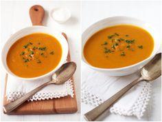 roast pumpkin soup.collage
