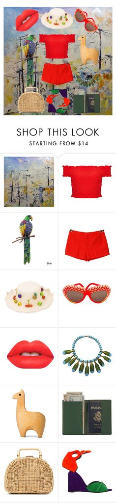 """DAC VI: Saludos Amigos"" by vulpecula ❤ liked on Polyvore featuring NOVICA, Miss Selfridge, Juicy Couture, Mercedes Salazar, Isabel Canovas, Lime Crime, FOSSIL, Royce Leather, Kayu and Pierre Hardy"