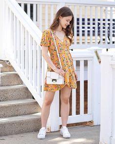 A Little Detail - @denimjoy_ // Yellow Summer Sun Dress