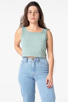 Los Angeles Apparel is a basics apparel manufacturer and distributor founded by Dov Charney, a long-standing leader in American garment manufacturing. Off Black, Black And Navy, Crop Tank, Tank Top Shirt, Garment Manufacturing, Crop Tops Online, Off White Color, Colourful Outfits, Cute Tops