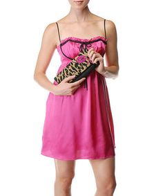 $285 BETSEY JOHNSON STRAWBERRY PINK SILK RUFFLE TRIM BABYDOLL DRESS 8 10 M #BetseyJohnson #Cocktail