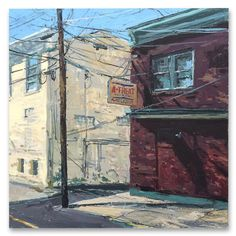 Will Harmuth -  quiet day on sitgreaves 24x24 acrylic on board