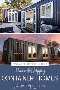 Shipping container homes you can order now - If you are interested in alternative dwellings, you know how popular shipping container homes are these days. Container Cabin, Container House Design, Tiny House Design, Container Houses, Steel Building Homes, Building A House, Shipping Container Homes, Shipping Containers, Modern Buildings
