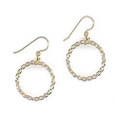 Twisted Hoop Earrings, Circle Dangle Earrings, Earrings Twisted Sterling Silver Gold Metal Wire Jewelry Wirework Earrings Twisted Metalwork