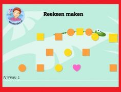 Seriëren met kleuters op digibord of computer, kleuteridee / Series game for preschoolers in IWB or computer