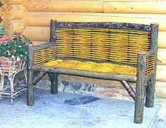 Celtic Bench with Gold Wattle