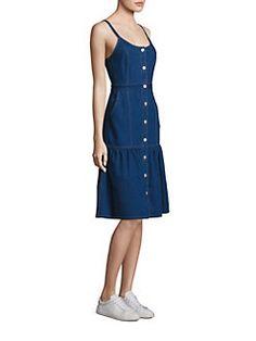SUNO - A-Line Denim Dress