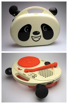 """thegroovyarchives: """"Columbia Panda Bear Turntable and Microphone Listen to the turntable here! Vintage Music, Vintage Toys, Sheet Music Decor, Portable Record Player, Vinyl Junkies, Record Players, Gift For Music Lover, Phonograph, Old Tv"""