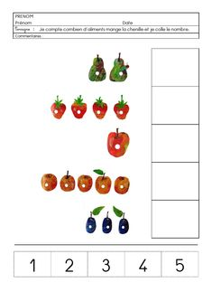 f_13_chenille_nombre.pdf - Fichiers partagés - Acrobat.com Eric Carle, Very Hungry Caterpillar Printables, Hungry Caterpillar Craft, Preschool Number Worksheets, Math Activities, First Day Of School Activities, Kindergarten Lessons, Spring Theme, Pre Writing