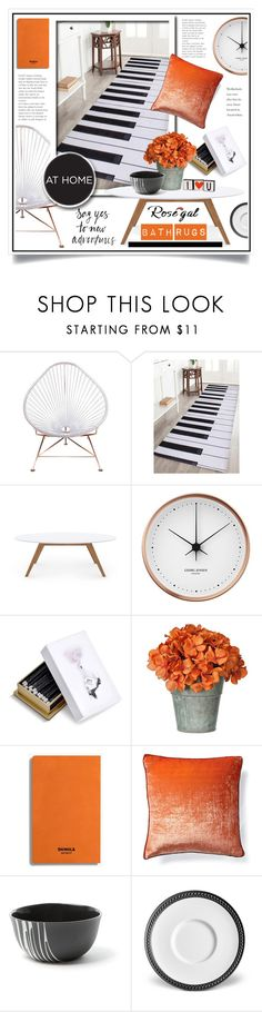 """Bath Rugs"" by ewa-naukowicz-wojcik ❤ liked on Polyvore featuring interior, interiors, interior design, home, home decor, interior decorating, Innit, Rove Concepts, Georg Jensen and L'Objet"