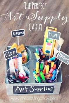 The perfect Art Supply caddy - A great way to organize all of your Back to School supplies