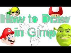 How to use Gimp like an Artist (How to draw in Gimp) - YouTube