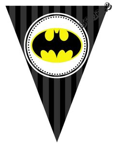 "DIY Batman Birthday Party Pendant Banner. Design Online Download & Print Immediately. Any Color Scheme. Pendant Banners each panel measures: 8.5"" x 11"" (19.75 CM x 25.85 CM)  Hot Glue or Tape Pendants to your string. Or punch holes and tie together with matching ribbon. Print at home or take to a place like Kinko's, Office Max, Copy Max, Staples or other stores that offer printing services."