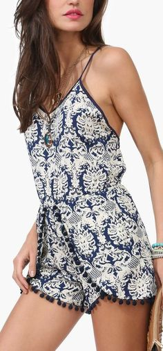 pom pom romper - would be cute for pajamas or loungewear Linge afd667246