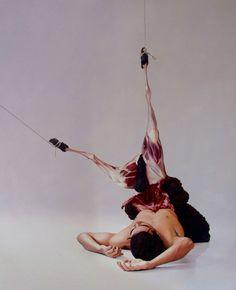 Juxtapoz Magazine - Graphic Hyppereal Paintings By Fábio Magalhães Jenny Saville, A Level Art, Horror Art, Conceptual Art, Magazine Art, Macabre, Dark Art, Canvas, Body Painting