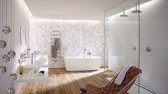 Un rêve de salle de bains classique et intemporel. Il se réalise ici avec Metris Classic de Hansgrohe.