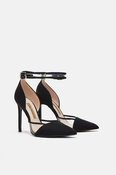 fa38f6ce208 Image 3 of HIGH-HEEL PUMPS WITH ANKLE STRAP from Zara High Heel Pumps