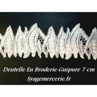 Dentelles coutures, dentelles de calais, dentelle coton, dentelle macramé, dentelle grande largeur - Syage Mercerie