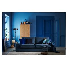 Take a look at our webpage for far more about this extraordinary green sofa Blue Rooms, Blue Walls, Sofa Design, Gray Interior, Interior Design, Interior Styling, Green Sofa, Sofa Frame, Sofa Covers