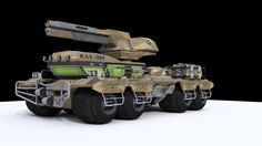 Sci-Fi Heavy Armored Vehicle