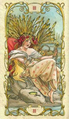 Tarot Mucha Empress Card