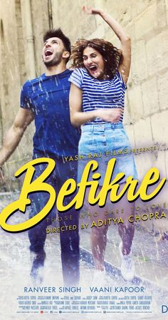 Set in Paris, Befikre is the free-spirited, contemporary love story of Dharam and Shyra, two young people who believe in living life to the fullest. Director: Aditya Chopra Stars: Ranveer Singh, Vaani Kapoor, Julie Ordon
