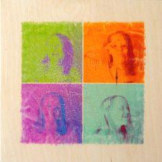 Self Portrait Print Transfer Project – Using PicMonkey! From Artchoo!