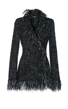 Tweed Fringe Jacket by Paule Ka