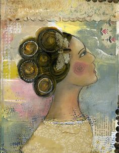 """One of my favorite prints by Kelly Rae Roberts.  """"What Is Calling You II"""""""