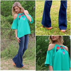 http://www.articlesofsociety.com/wp-content/uploads/2015/03/Missy-Robertson-Jade-Embrodiered-Cold-Shoulder-Top-88-Articles-of-Society-Denim-Flares-68-follow-env.jpg