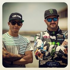 Lewis Hamilton & Ken Block