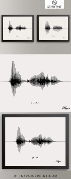 His & Hers I Do Wedding Vow, Paper Anniversary Gift - Artsy Voiceprint ™ provides personalized soundwave art for anniversaries, weddings, & many more special events. Turn your favorite song or baby's heartbeat into unique custom artwork! White Beige, Black White, Wedding Vow Art, 1 Year Anniversary Gifts, Great Wedding Gifts, Wave Art, Personalized Wall Art, Small Cards, Sound Waves