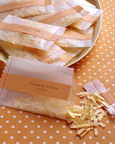 Confetti. DIY papier calque cousu et etiquette kraft