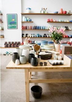 I love Bison ceramics - a little more hardy than Mud, and an equally lovely range of colours.