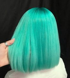 Light Blue Hair, Teal Hair, Aqua Hair Color, Mint Green Hair Dye, Dyed Hair Blue, Creative Hair Color, Cool Hair Color, Pelo Color Menta, Coloured Hair