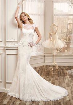 Vestido de novia Nicole 2016 Modelo 16019 en Eva Novias. #bridal #weddindress #vestidonovia #moda #fashion #novia