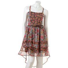 7393d4909be Mudd Floral Hi-Low Dress - Juniors Size L  muddshoes Kohls Dresses