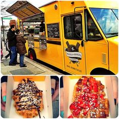 Waffles & Dinges - foodtruck. Best NYC street food eveerrrrrrr:D